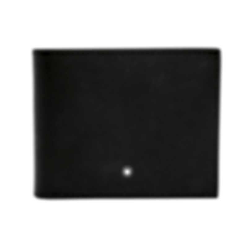 Montblanc Sartorial Black Leather And Jacquard Wallet 113220