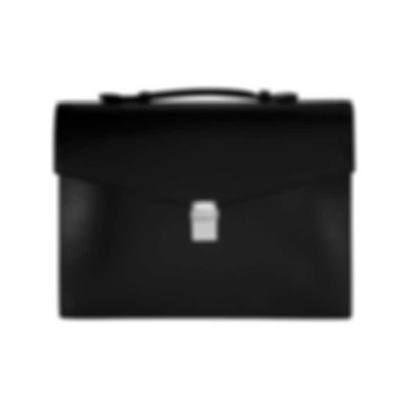 Montblanc Meisterstuck Black Leather And Nylon Briefcase 114523