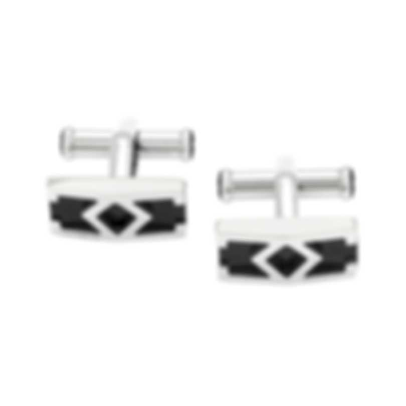 Montblanc Silver Stainless Steel And PVD Cufflinks 114766