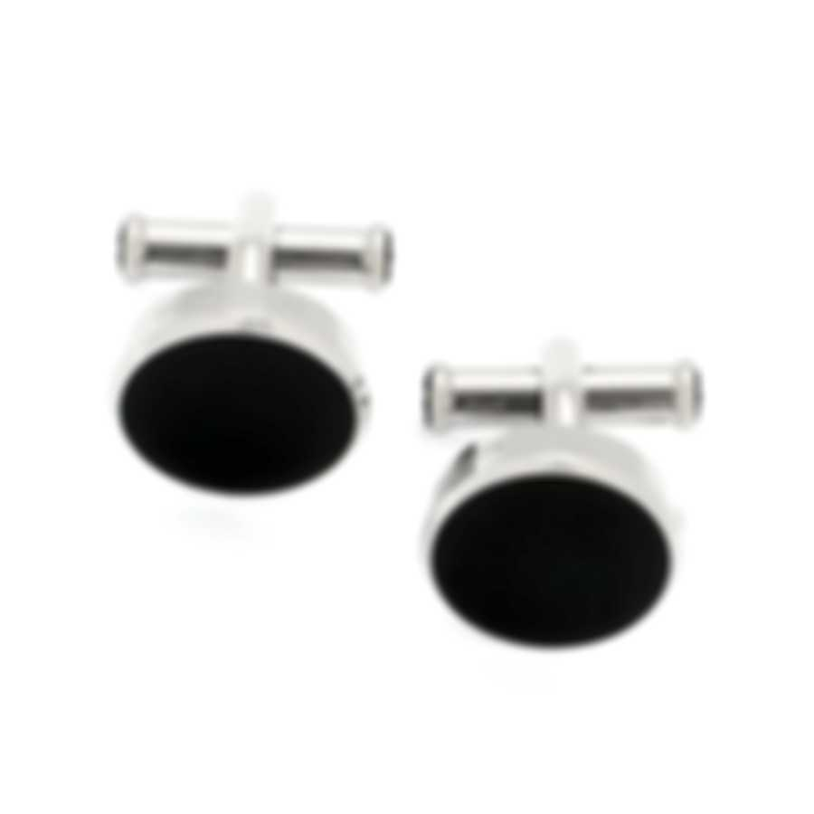 Montblanc Silver Stainless Steel And PVD Cufflinks 114784