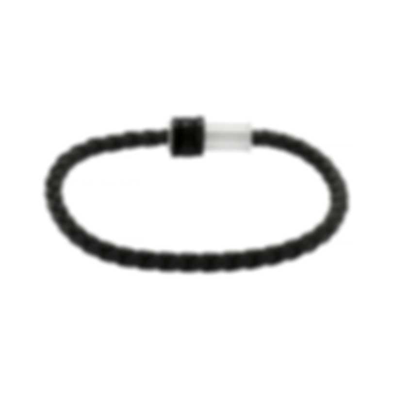Montblanc Black & Silver Nylon And Stainless Steel Bracelet 11654868