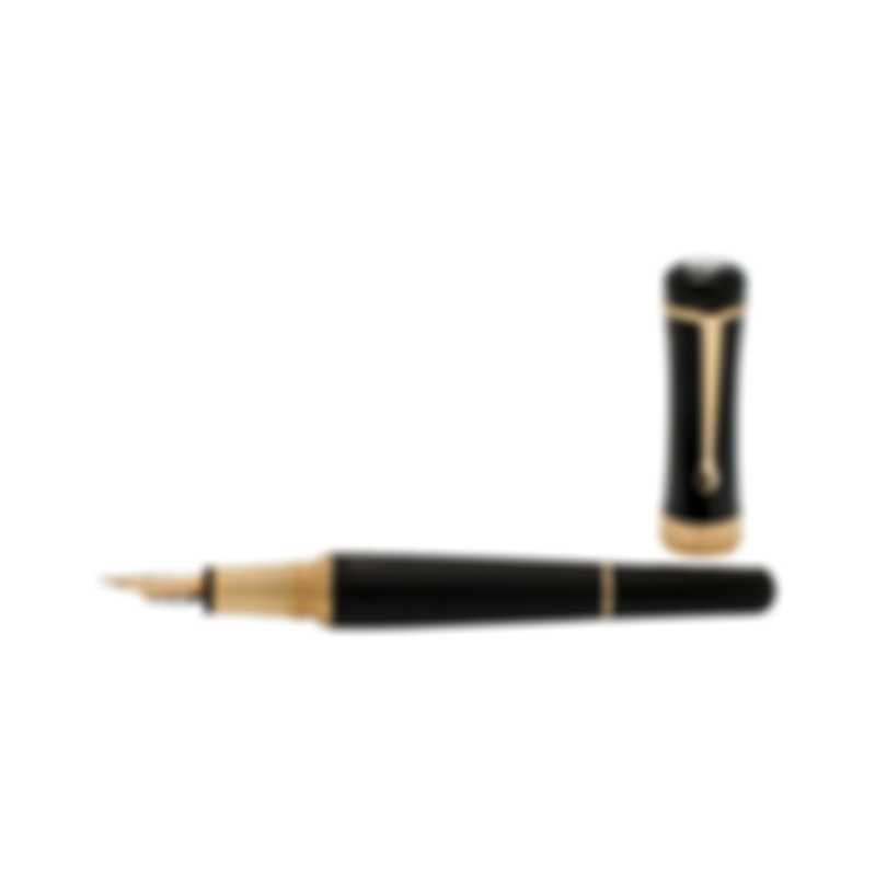 Montblanc Bonheur Nuit Black & Gold Resin Fountain Pen 117473