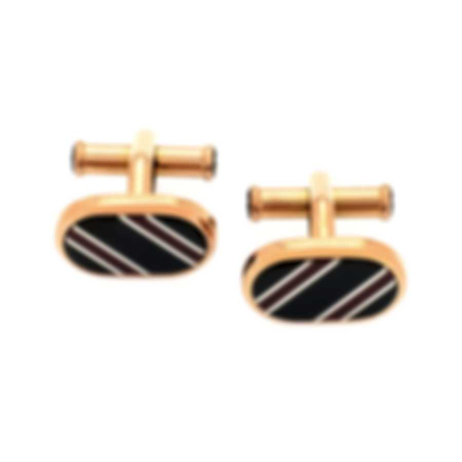 Montblanc Sartorial Black & Gold Stainless Steel And Lacquer Cufflinks 118614