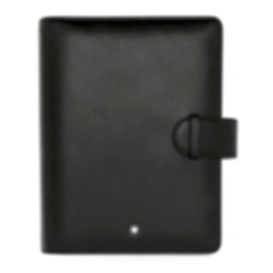 Montblanc Meisterstuck Black Leather And Jacquard Organizer 14257