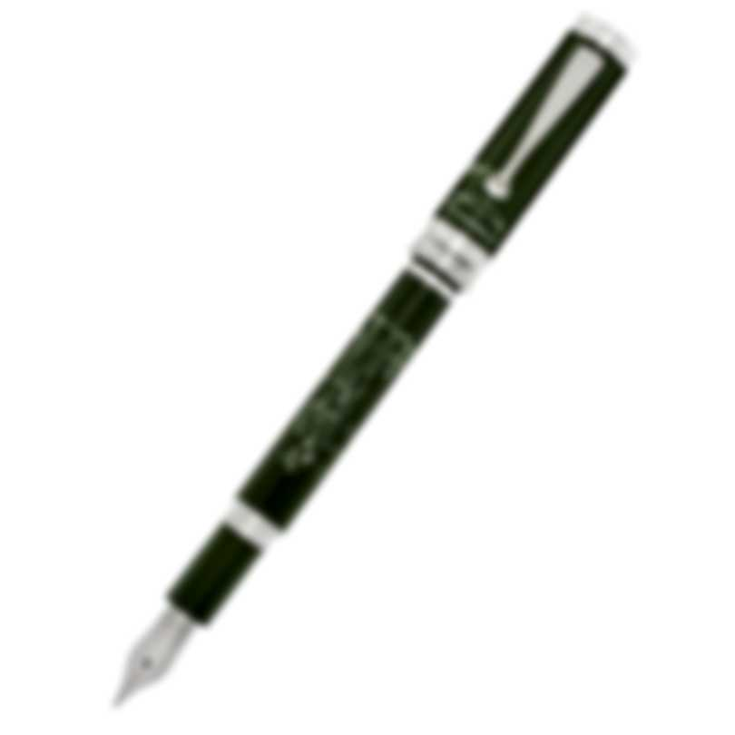 Montegrappa The Secret Life Of Dali Resin Stainless Steel Fountain Pen ISDSS2IG