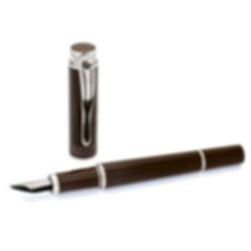 Montegrappa Ernest Hemingway Novel Stainless Steel & Gold Fountain Pen ISICH2IW
