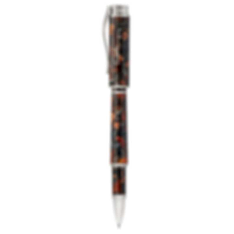 Montegrappa Icons Hemingway Novel Amber Grey & Silver Rollerball ISICHRIA
