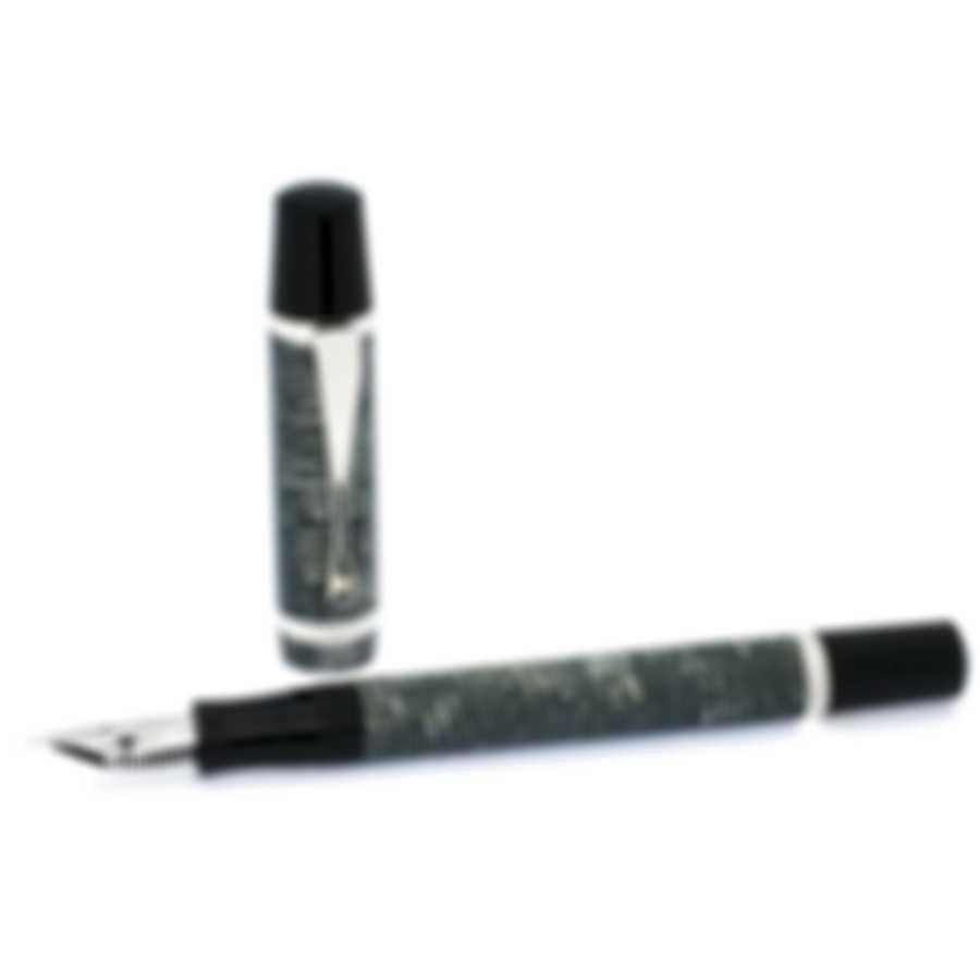 Montegrappa Nazionale Flex Resin & Sterling Silver Fountain Pen ISNVN1CH