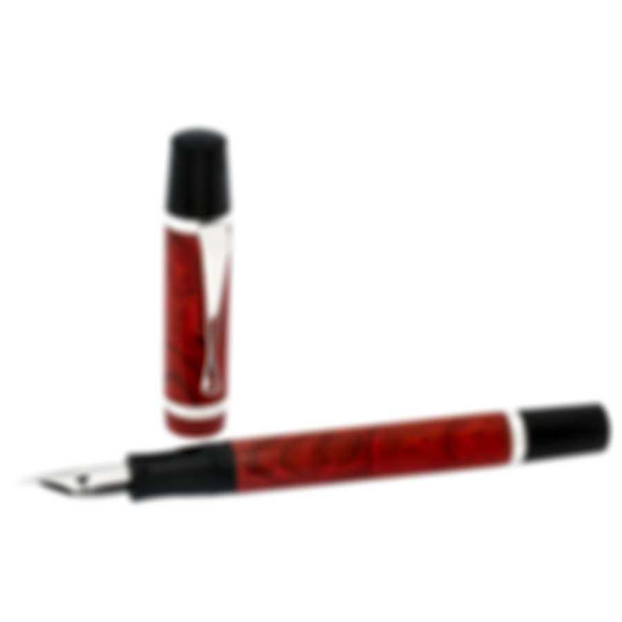 Montegrappa Nazionale Flex Resin & Sterling Silver Fountain Pen ISNVN1CI