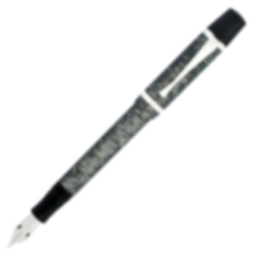 Montegrappa Nazionale Flex Resin & Sterling Silver Fountain Pen ISNVN2CH