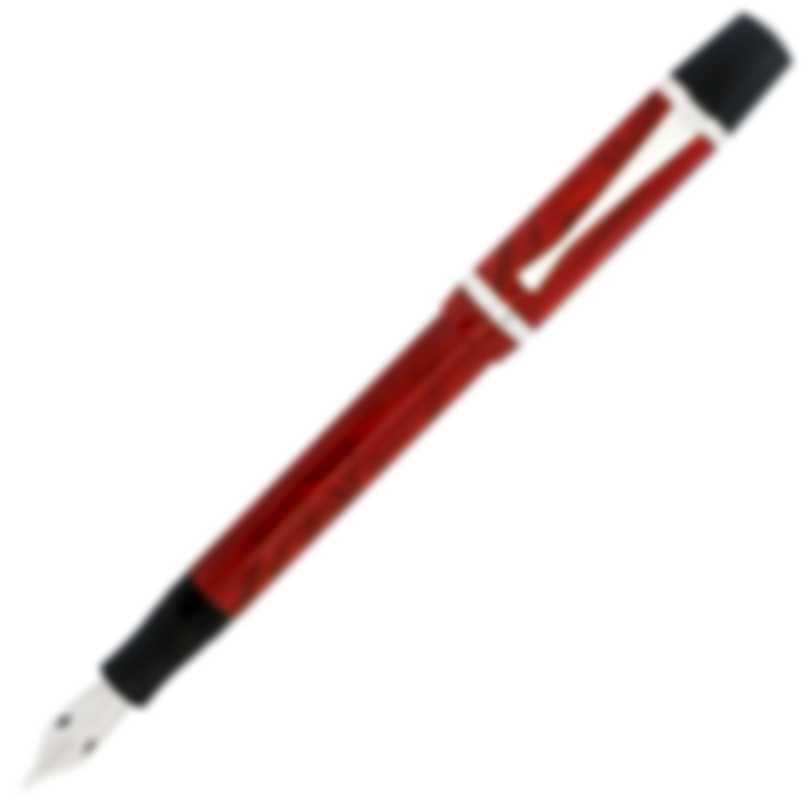 Montegrappa Nazionale Flex Resin & Sterling Silver Fountain Pen ISNVN2CI