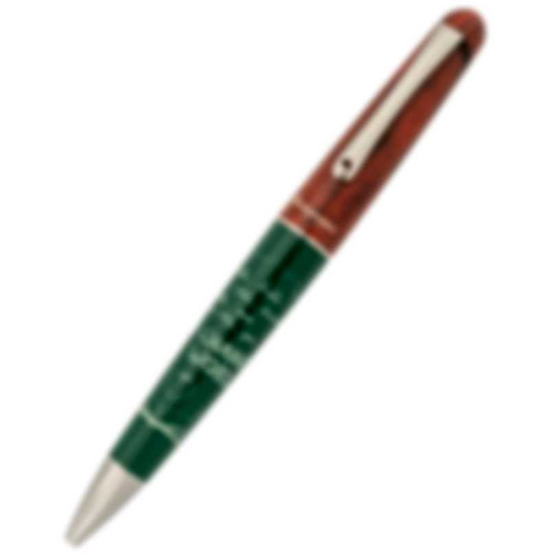 Montegrappa Teacher's Pen Green & White Resin Ballpoint Pen ISTERBAG