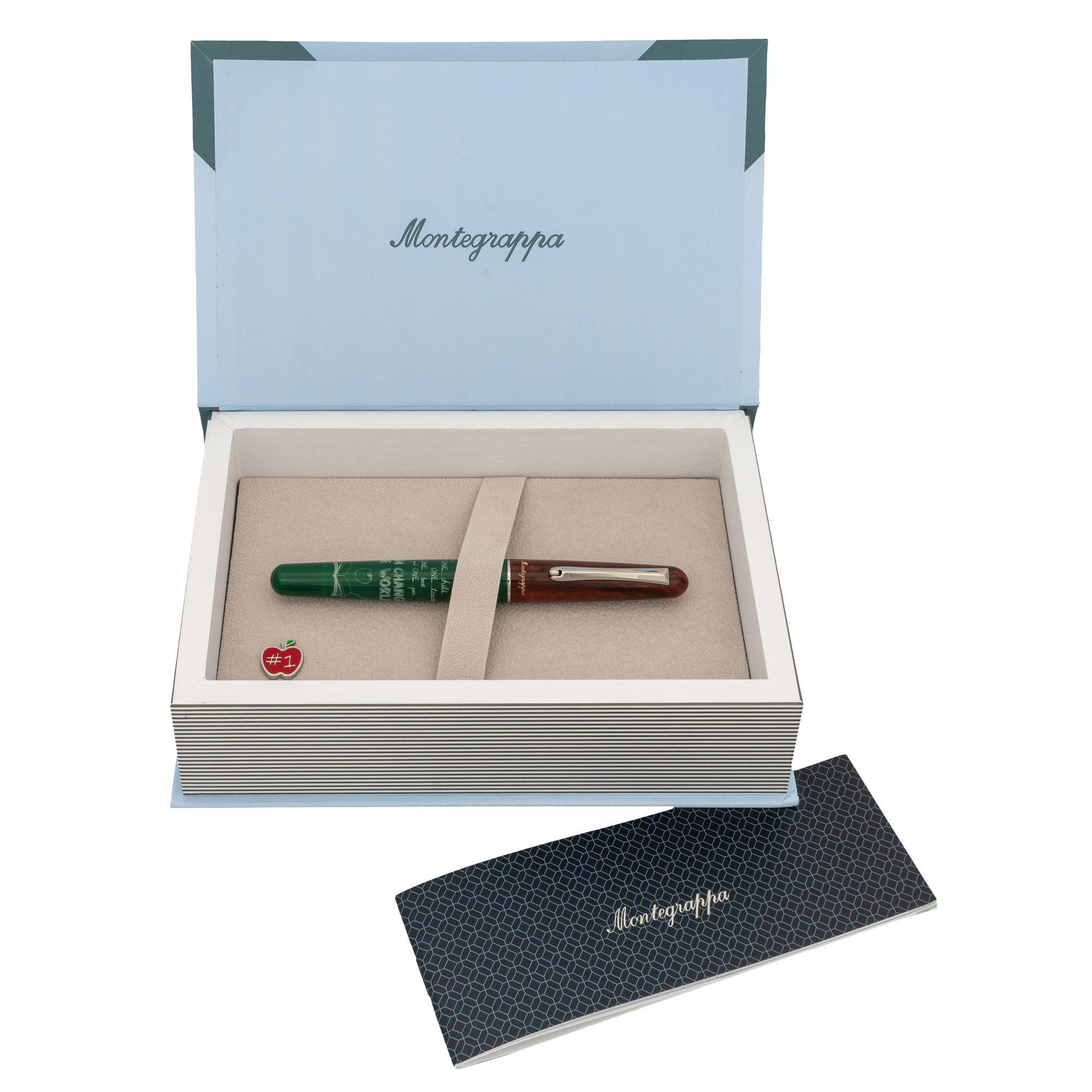 Montegrappa Teacher/'s Pen Green /& White Resin Rollerball Pen ISTERRAG