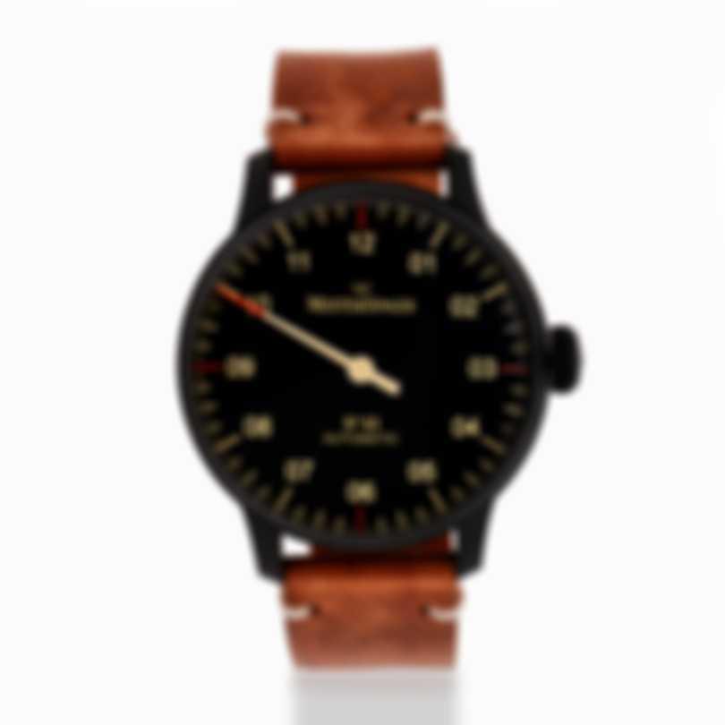 Meistersinger No 3 Black Line Black DLC Automatic Men's Watch AM902BL