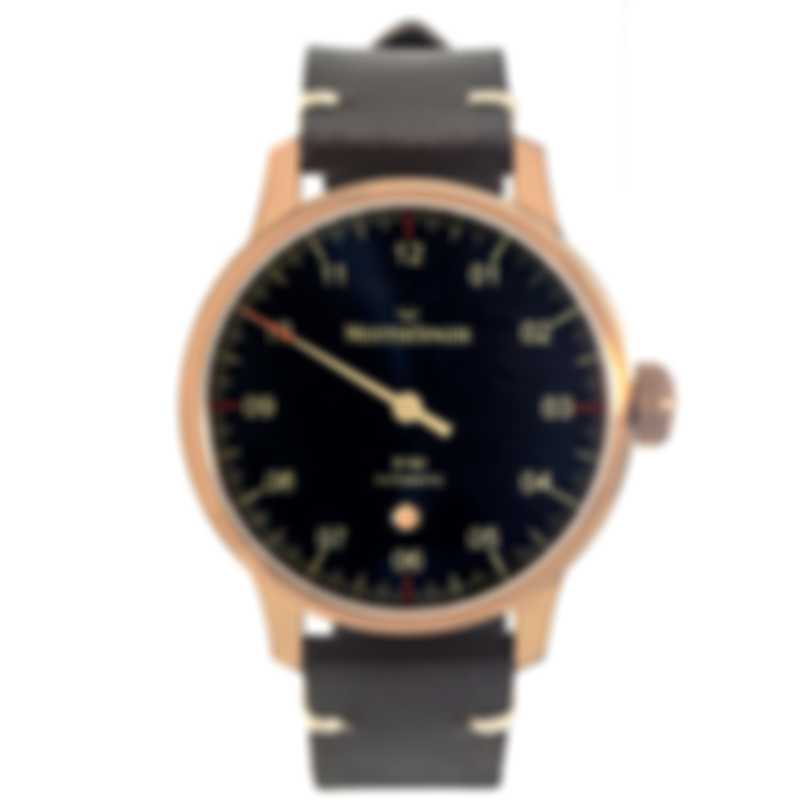 Meistersinger No 3 Bronze Line Blue Dial Automatic Men's Watch AM917BR