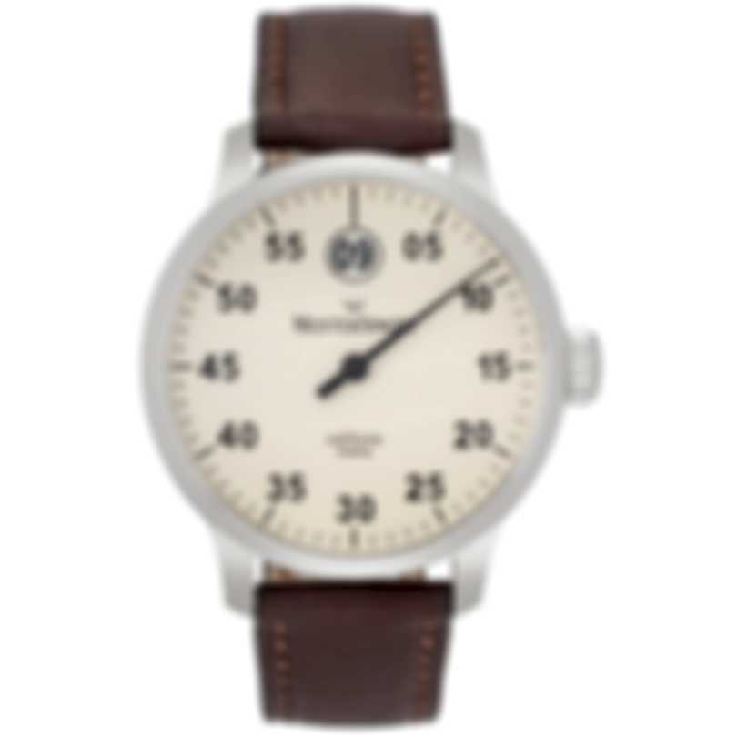 MeisterSinger Salthora Meta Jump Hour Automatic Men's Watch SAM903-BR-Leather