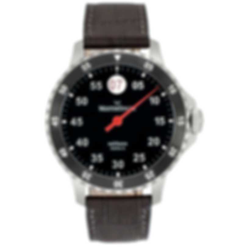 MeisterSinger Salthora Meta X Stainless Steel Automatic Men's Watch SAMX902 Grey Leather