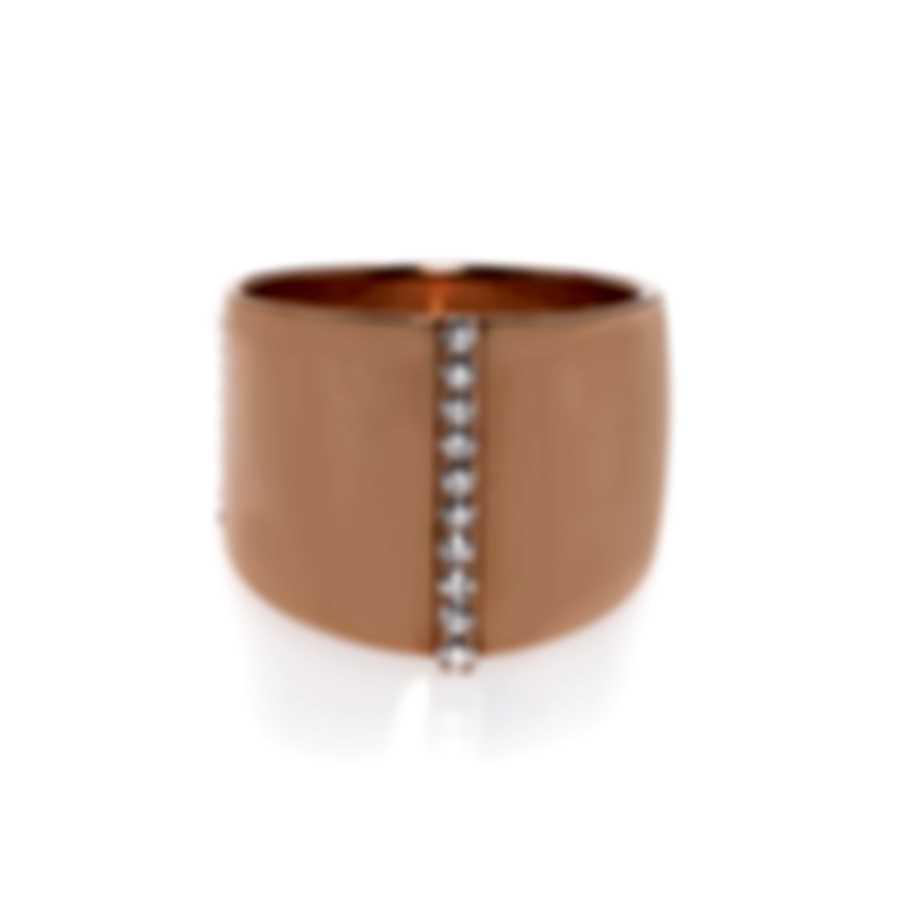 Messika Kate 18k Rose Gold Diamond 0.17ct Ring Sz 6 V014193