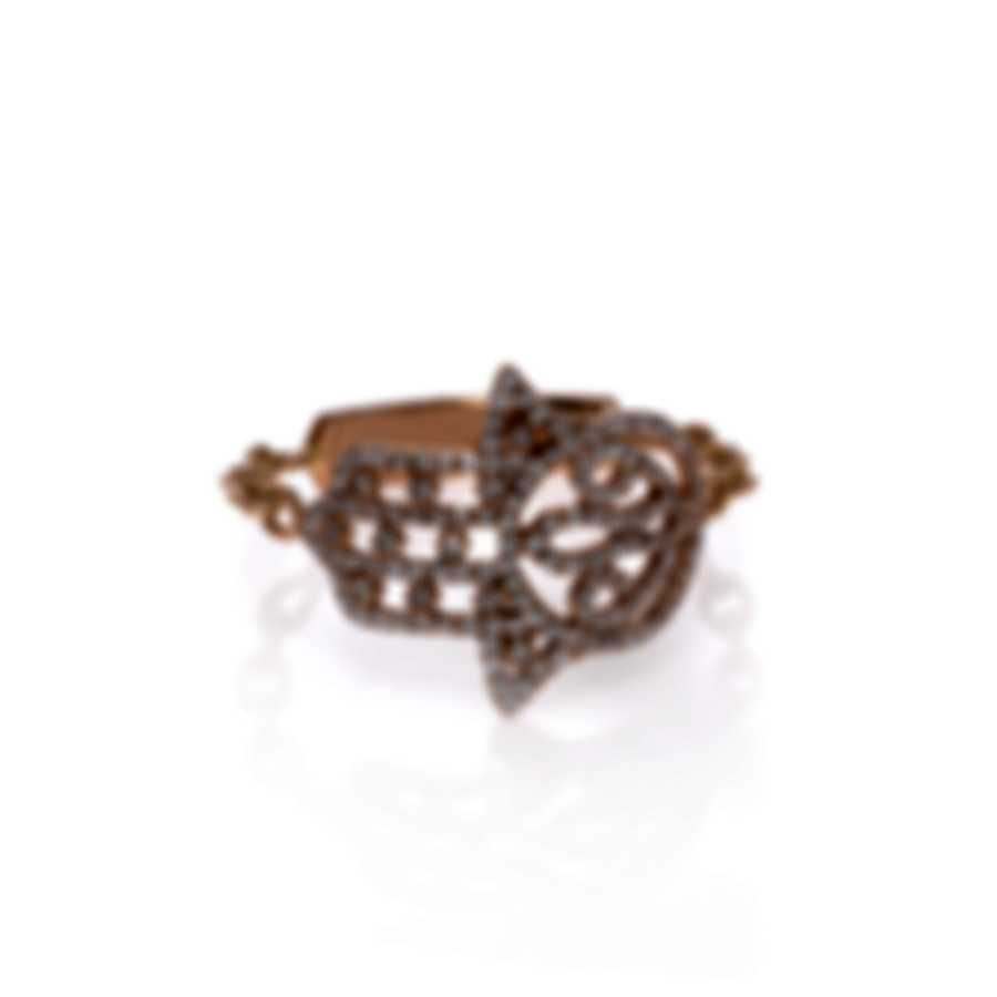 Messika Faith 18k Rose Gold Diamond 0.28ct Ring Sz 5.75 V014122