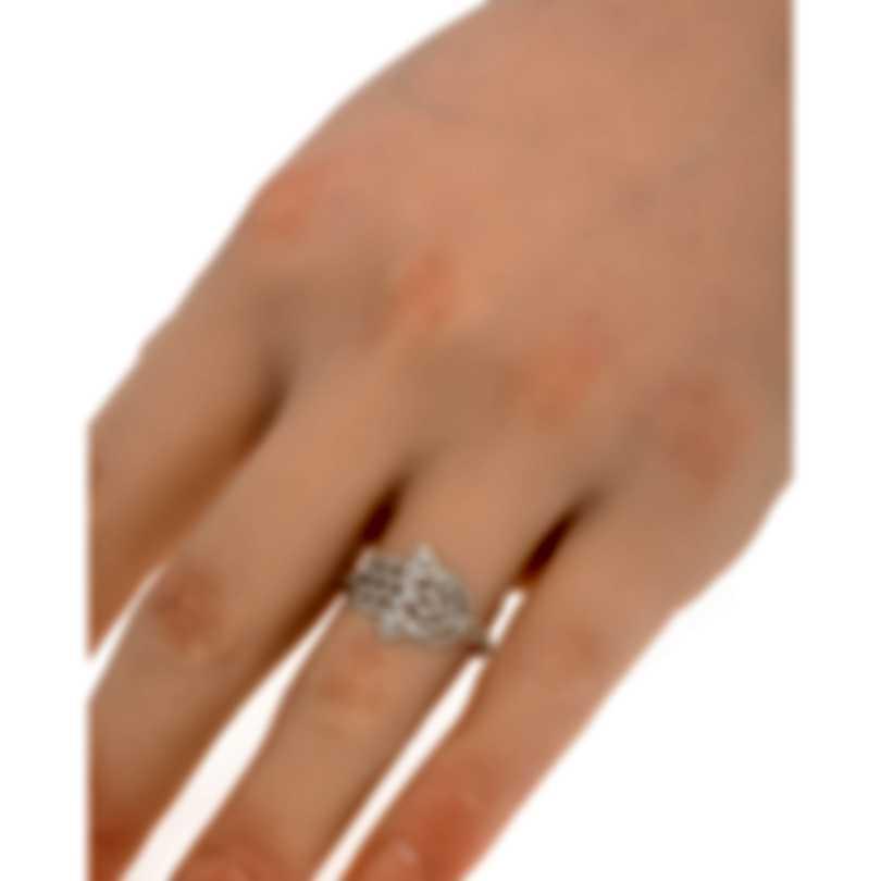 Messika Faith 18k White Gold Diamond 0.27ct Ring Sz 6.5 V014129