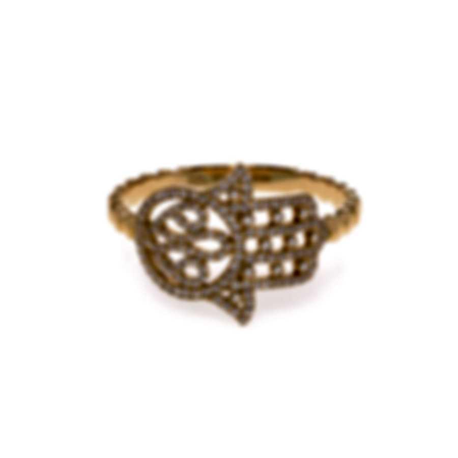 Messika Faith 18k Yellow Gold Diamond 0.22ct Ring Sz 6.5 V014135