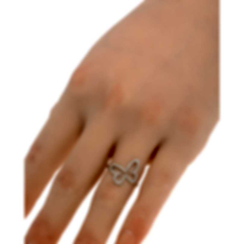 Messika Butterfly 18k White Gold Diamond 0.20ct Ring Sz 6 V014288