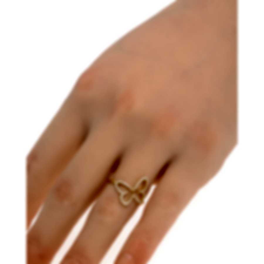 Messika Butterfly 18k Yellow Gold Diamond 0.20ct Ring Sz 6 V014294