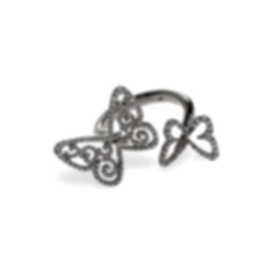 Messika Butterfly 18k White Gold Diamond 0.65ct Ring Sz 6 V014300
