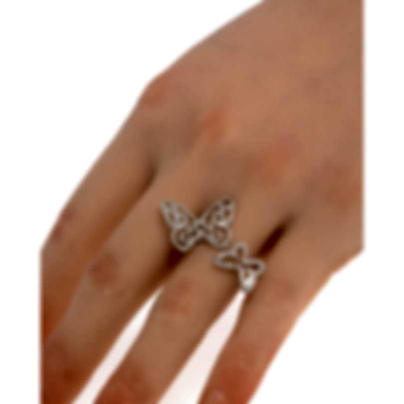 Messika Butterfly 18k White Gold Diamond 0.65ct Ring Sz 6.25 V014301
