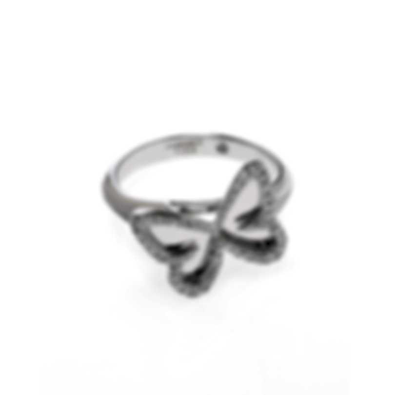 Messika Butterfly 18k White Gold Diamond 0.27ct Ring Sz 6.5 V014307