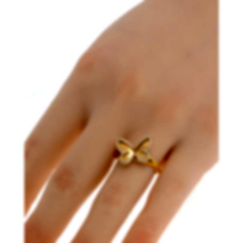 Messika Butterfly 18k Rose Gold Diamond 0.27ct Ring Sz 6.5 V014311