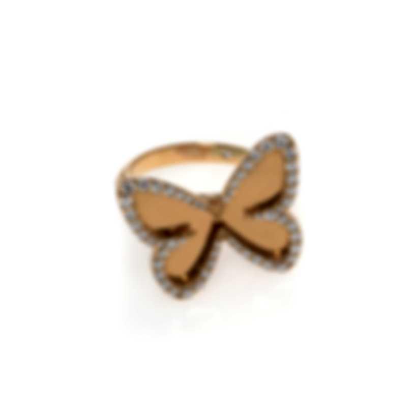 Messika Butterfly 18k Rose Gold Diamond 0.47ct Ring Sz 6 V014314