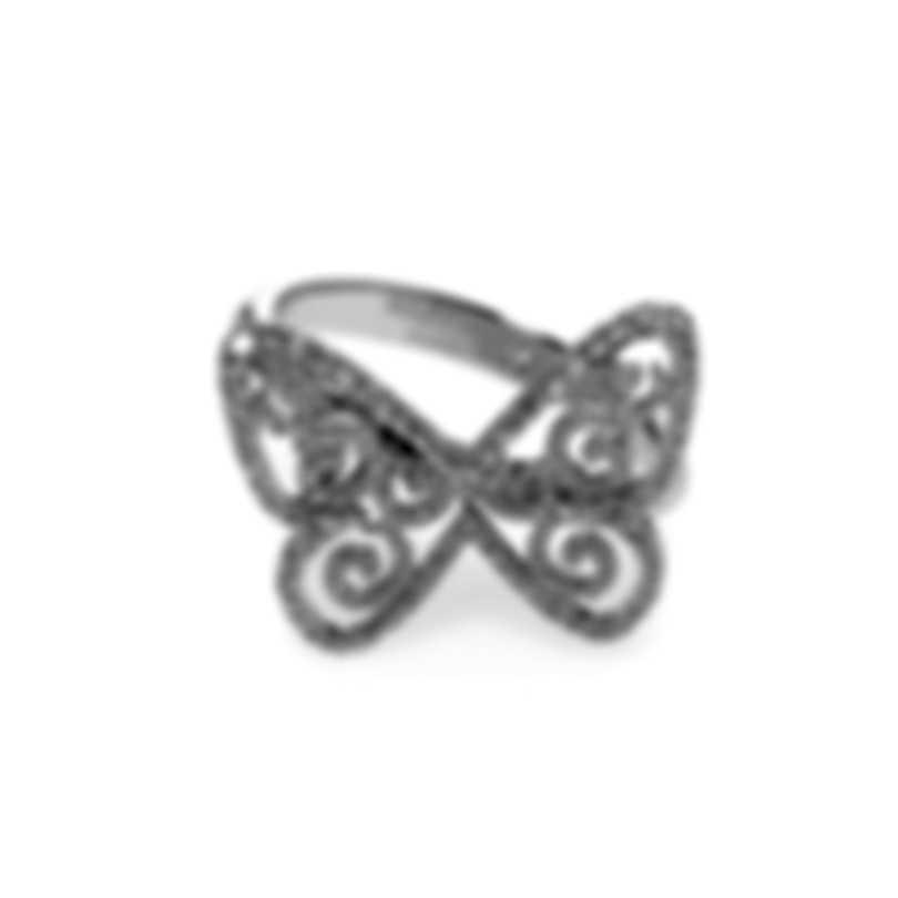 Messika Butterfly 18k White Gold Diamond 0.40ct Ring Sz 6.25 V014316
