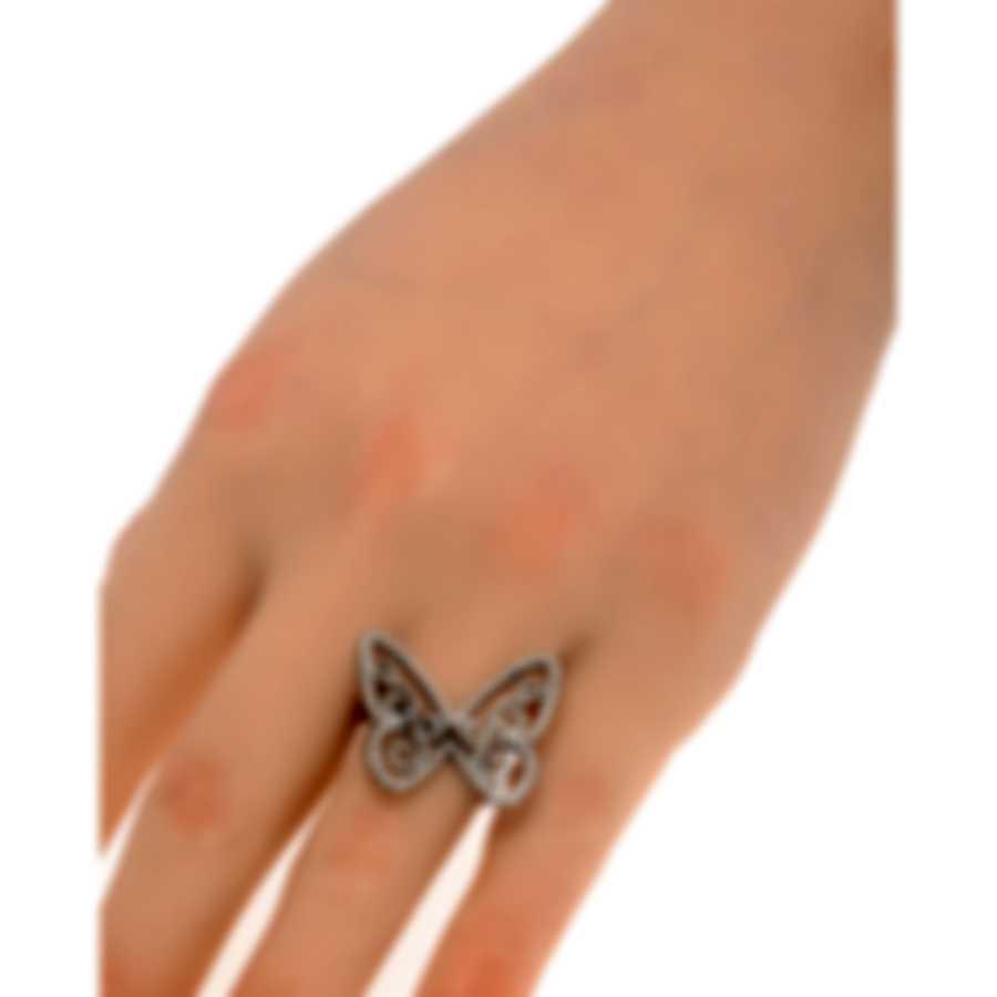 Messika Butterfly 18k Black Gold Diamond 0.78ct Ring Sz 5.5 V014320