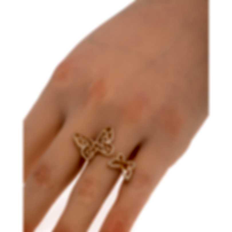 Messika Butterfly 18k Rose Gold Diamond 0.65ct Ring Sz 7.25 V014325