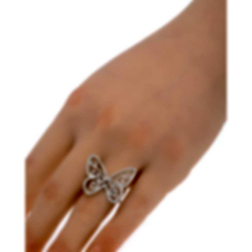 Messika Butterfly 18k White Gold Diamond 0.78ct Ring Sz 6.25 V014328