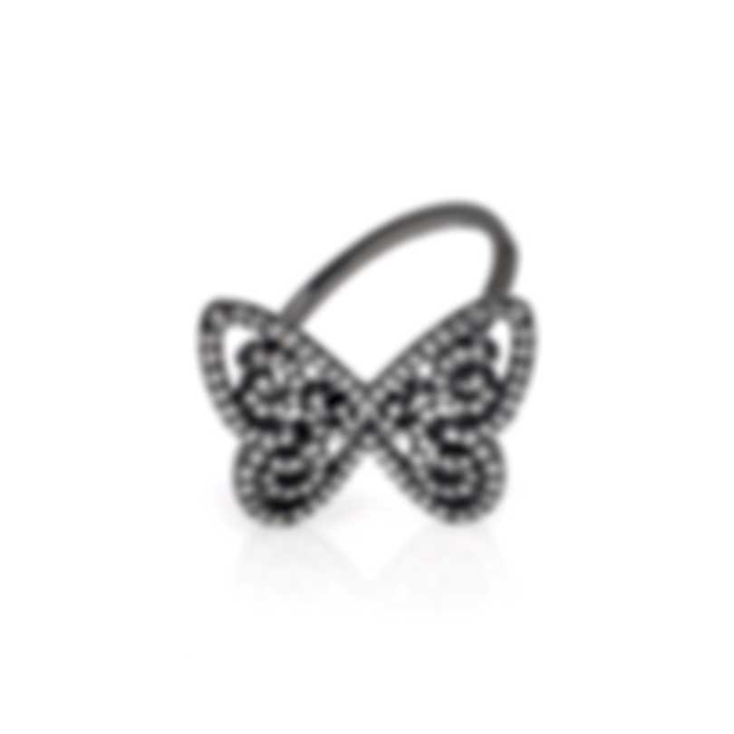 Messika Butterfly 18k Black Gold Diamond 0.39ct Ring Sz 5.5 V014333