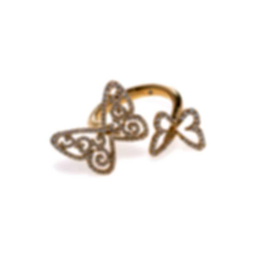 Messika Butterfly 18k Yellow Gold Diamond 0.52ct Ring Sz 6.75 V014334