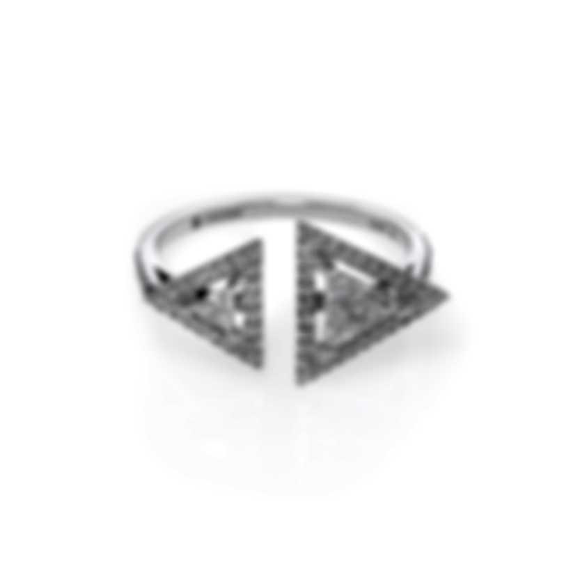 Messika Thea Toi & Moi 18k White Gold Diamond 0.64ct Ring Sz 6.25 V014469