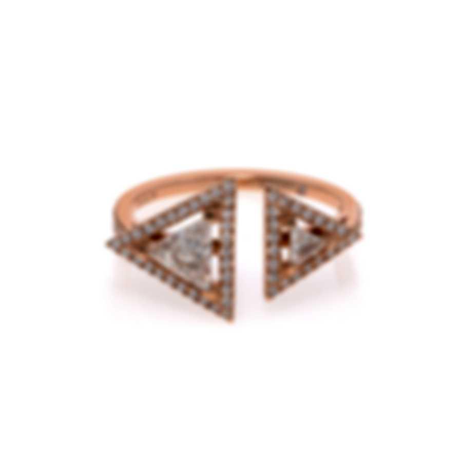 Messika Thea Toi & Moi 18k Rose Gold Diamond 0.76ct Ring Sz 6 V014500
