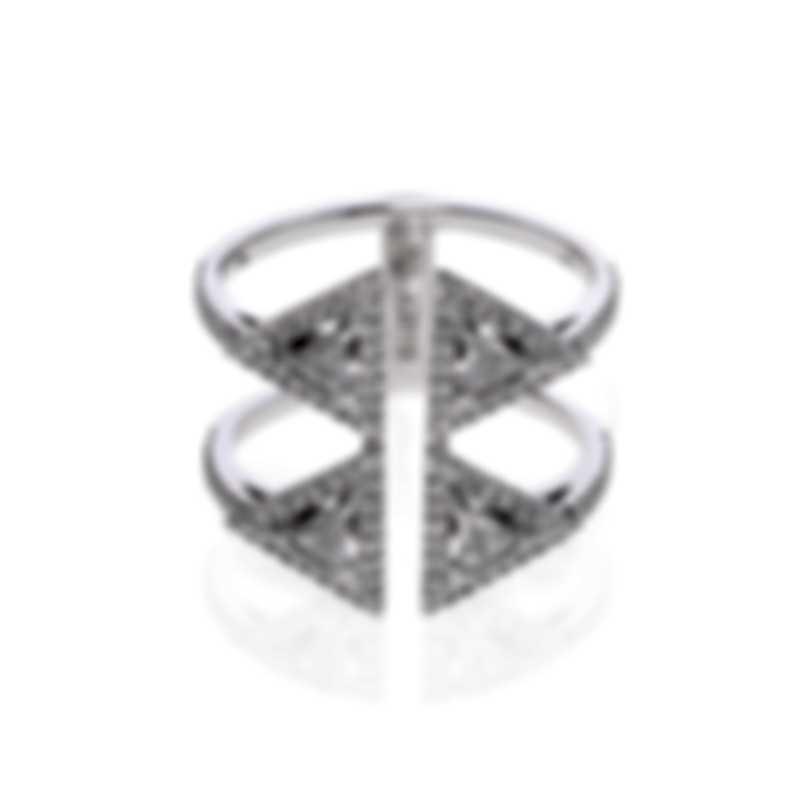 Messika Thea Toi & Moi 18k White Gold Diamond 0.87ct Ring Sz 5.5 V014508