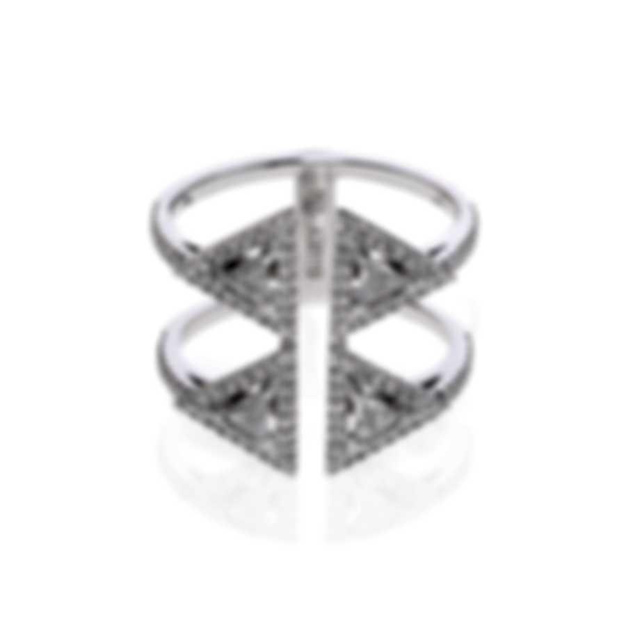 Messika Thea Toi & Moi 18k White Gold Diamond 0.72ct Ring Sz 6 V014510