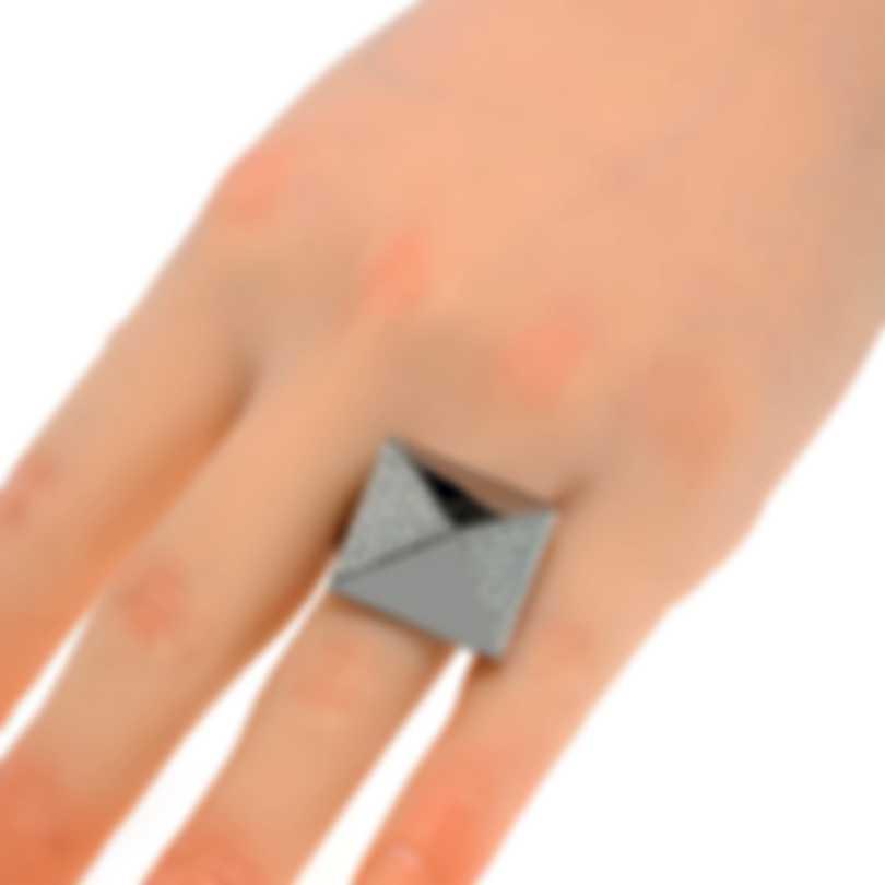 Messika Spiky 18k Black Gold Diamond 1.06ct Ring Sz 6.5 V014514