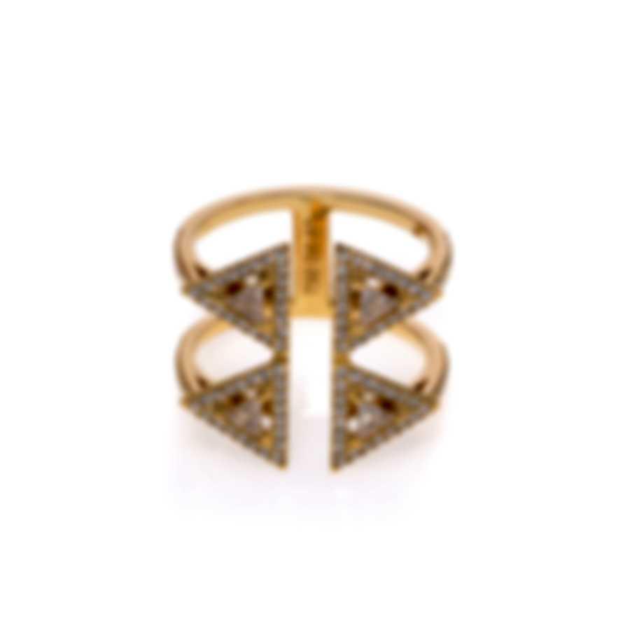 Messika Thea Toi & Moi 18k Yellow Gold Diamond 0.66ct Ring Sz 4.75 V014516
