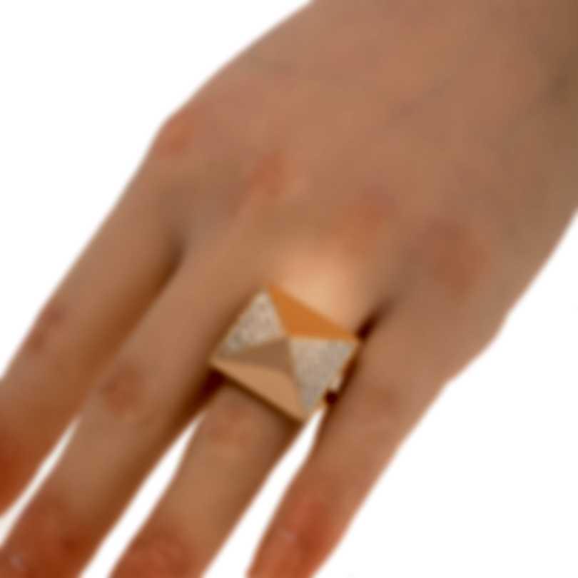 Messika Spiky 18k Rose Gold Diamond 1.12ct Ring Sz 6.5 V014518