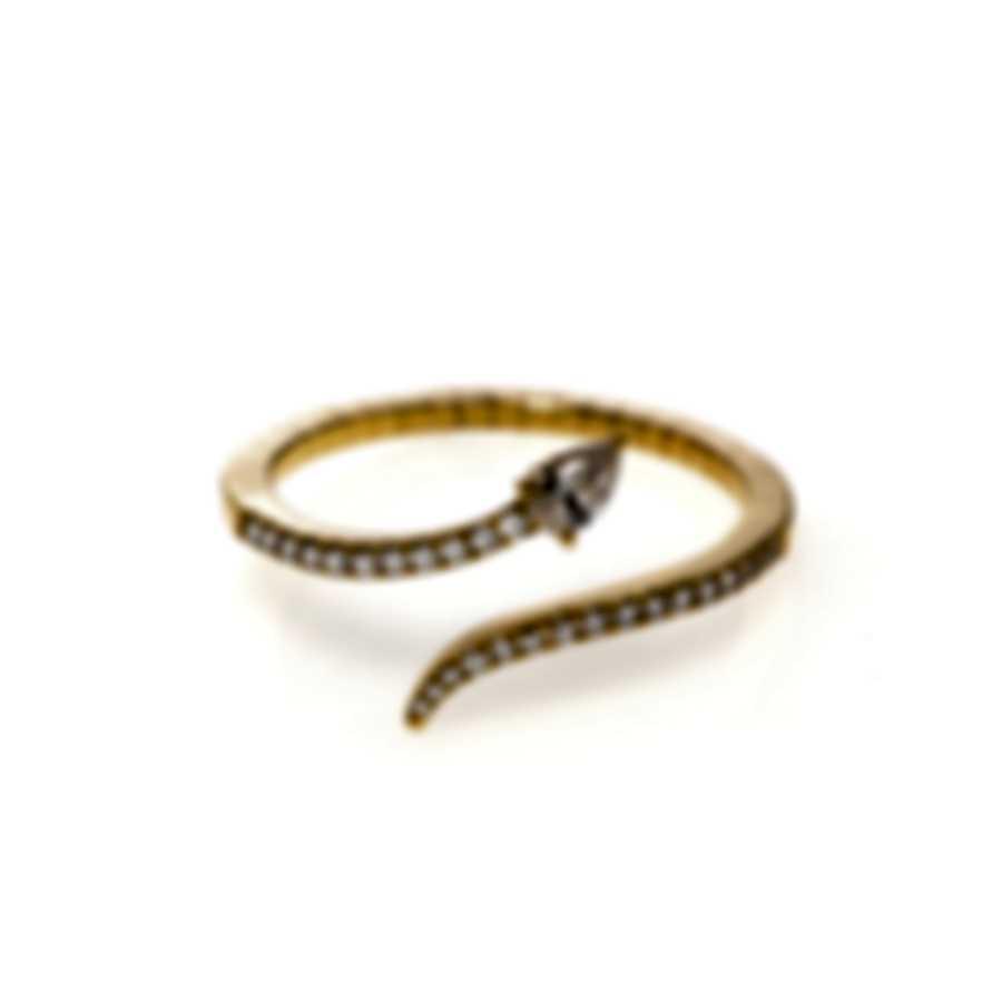 Messika Snake 18k Yellow Gold Diamond 0.25ct Ring Sz 6.75 V014522