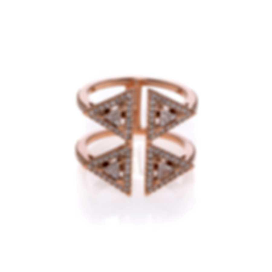 Messika Thea Toi & Moi 18k Rose Gold Diamond 0.66ct Ring Sz 5.75 V014524