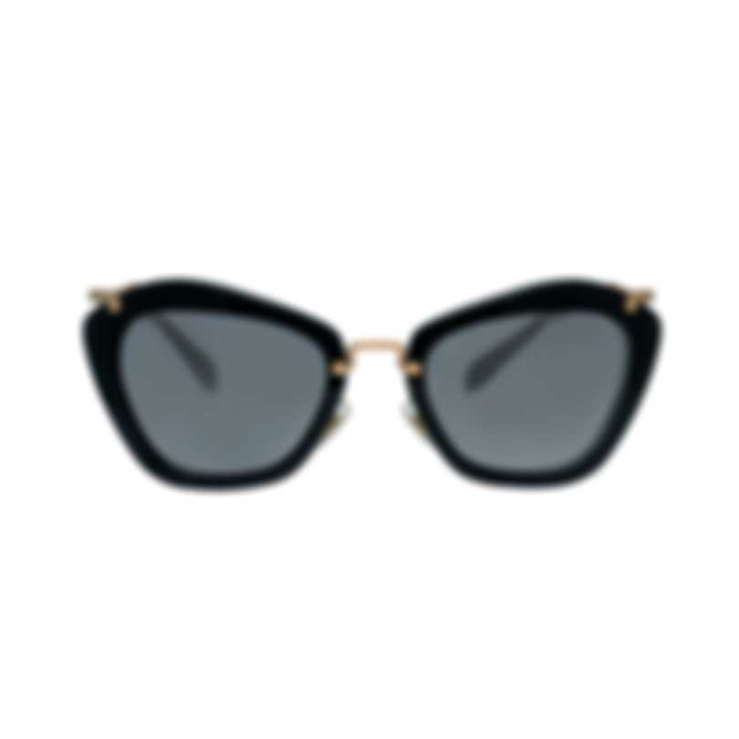 Miu Miu Black And Gray Women's Acetate Sunglasses MU10NS-1AB3M1