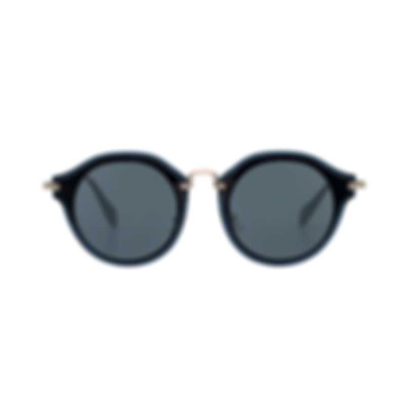 Miu Miu Black And Gray Women's Metal Sunglasses MU51SS-1AB9K1