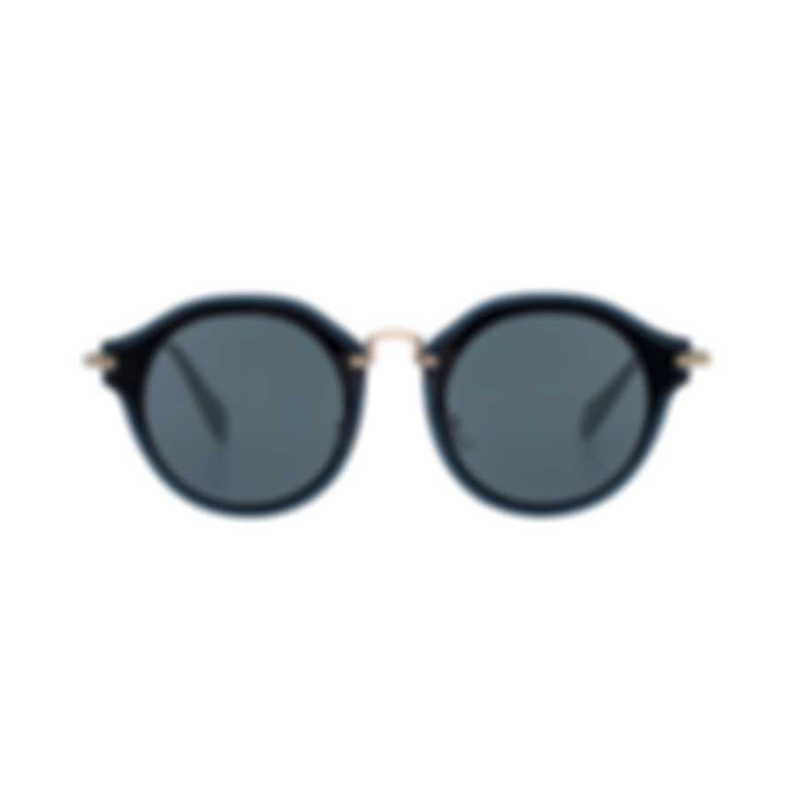 Miu Miu Black And Gray Women's Metal Sunglasses MU51SS-1AB9K1